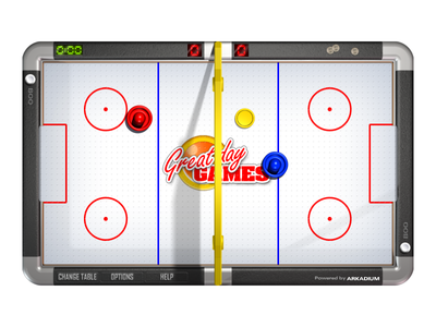 Air Hockey Game Art