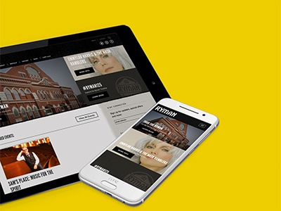 Ryman Auditorium Responsive Website wordpress events music entertainment mobile responsive website