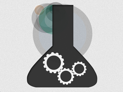 The Lab icons gears minimal design textures