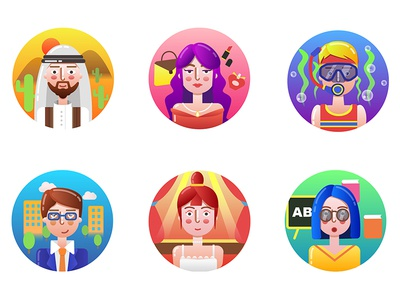 character icons icons character