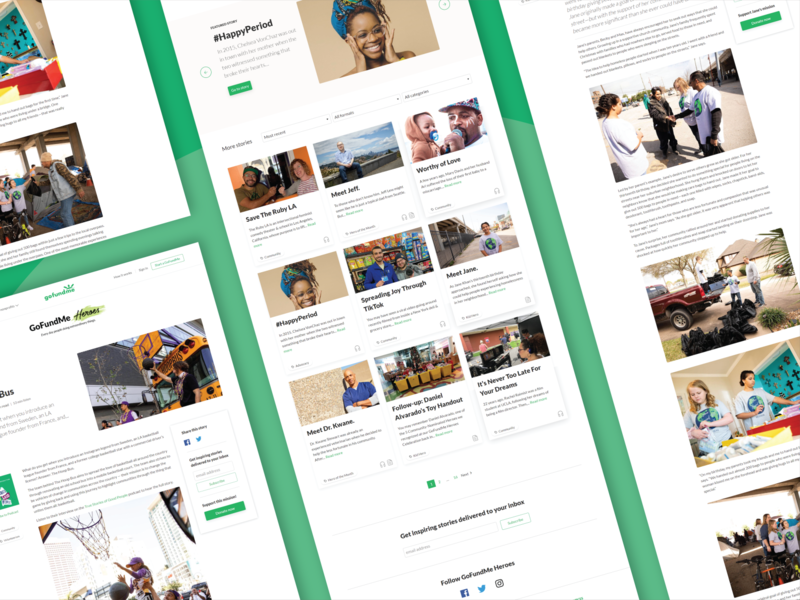 GoFundMe Heroes  — Page templates