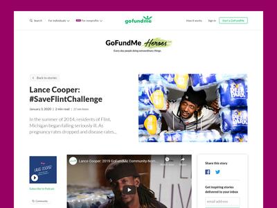 GoFundMe Heroes  — Full article template