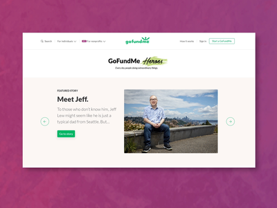GoFundMe Heroes  — Featured article carousel