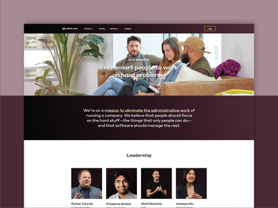 Rippling — About Page saas website saas dark ui css html website web about us about responsive grid grid layout layout ui web design dark