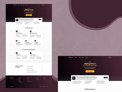 Rippling — Pricing saas saas website dark web design website ui dark ui layout pricing pricing page grid layout responsive grid web html css saas web design