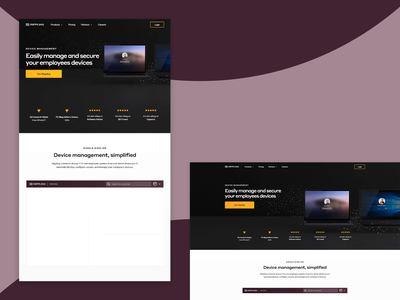 Rippling — Mobile Device Management saas web design dark ui css html landing page website web product page grid responsive grid layout landing pages layout ui web design dark saas website saas landing page saas