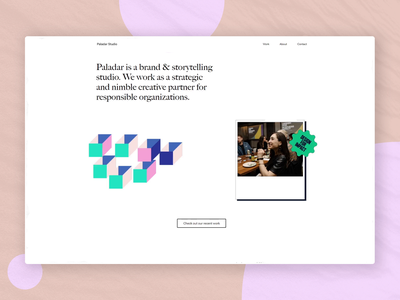 Paladar Studio — Homepage branding lottie motion studio website responsive website web ui responsive grid layout home page homepage html grid white whitespace light css animation