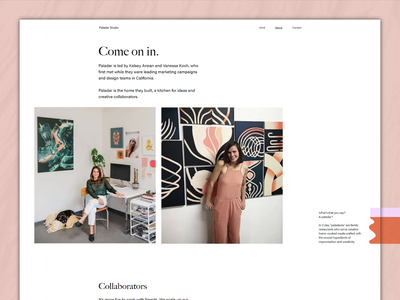 Paladar Studio — About full view about about page studio website responsive website web ui responsive grid layout html grid white whitespace light css