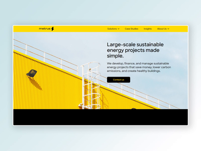 Metrus Energy — Homepage sustainability energy responsive design website web responsive website responsive css html landing page layout ui web design colorful homepage