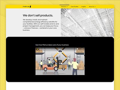 Metrus Energy — Solutions landing page sustainability energy responsive design website web responsive web design responsive css html ui web design