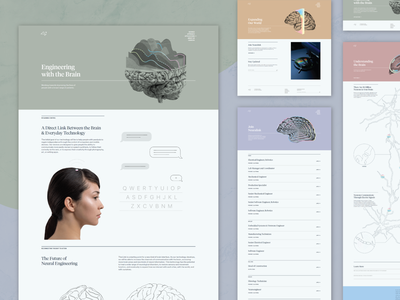 Neuralink — Page Layouts page layout css html website web grid css grid responsive responsive website ui web design colorful elon musk neuralink layouts layout web development