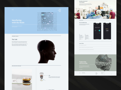 Neuralink — Approach animation page layout html website web css css grid responsive design responsive product page ui web design colorful elon musk neuralink layout web development