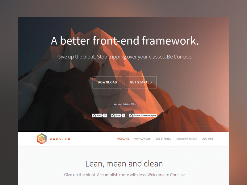 Concise Homepage css css3 html html5 homepage website web design creative design grid landing landing page