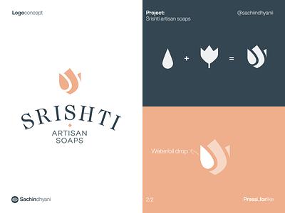 srishti soap logo design soap flower logo mark icon monogram logotype logo design branding vector minimal logodesign