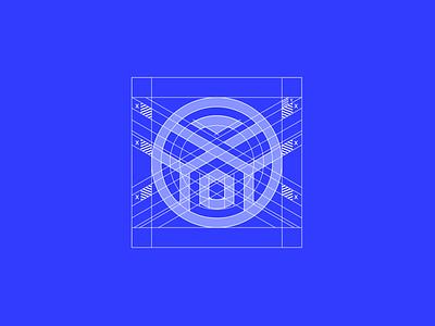 Astoria homes logo wire-frame construction wireframe minimal vector logo logodesign branding