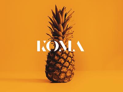 koma logo logodesign branding typography vector minimal customtype logotype logo