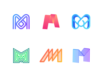 letter M logo collection