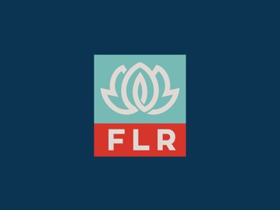 FLR logo design logo vector monogram branding minimal logodesign flower