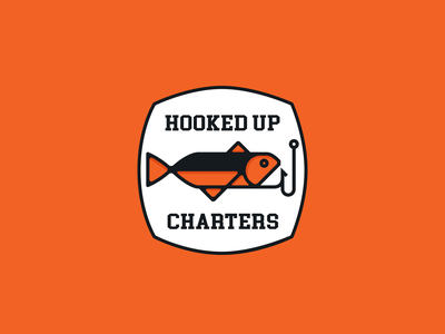 Hooked up charters logo design typography logo logotype minimal vector branding logodesign