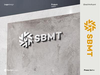 SBMT logo mockup logo mockup mockup mark icon monogram design logo vector minimal logodesign branding