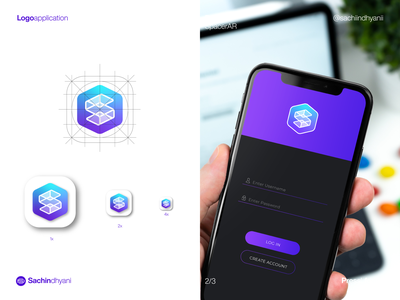 SpacerAr icon app icon blue icon monogram design logo vector minimal logodesign branding