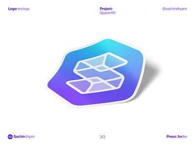 SpacerAr mockup sticker logo mockup mockup mark icon monogram design logo vector minimal logodesign