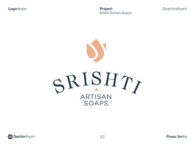 srishti soap logo design mark typography monogram logotype branding vector minimal logodesign