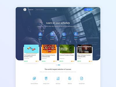 Danaapp e-learning platform design interface hero landing learning ux dana irancell web design e-learning ui
