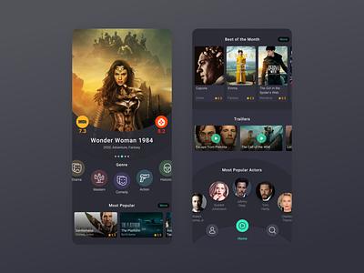 VOD App tv movies app video on demand cinema film interface app design app dark series movies video vod ux ui design