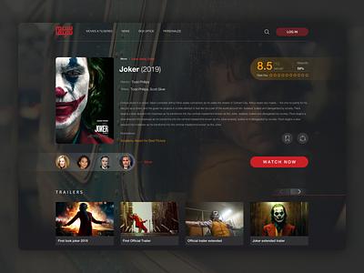 Salam Cinema VOD Platform web ui design interface movie page detail page web design ux ui cinema movies video tv series streaming video on demand vod dark design