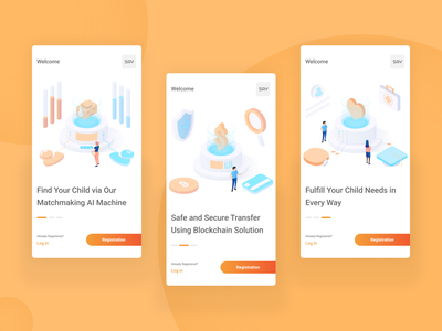 """SAY"" App Intro matchmaking finance virtual virtual kid graphic design intro app intro app design app ui isometric design illustration"
