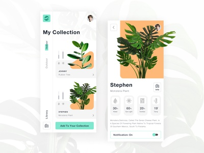 Smart Garden app manage app design detail dashboard iot smart garden green interface app ux ui minimal design