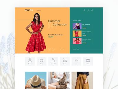 Muroo Shop concept cloth shop e commerce interface ui design web design web minimal ui design ux