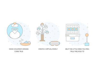 KPI illustration#2 virtual kpi tree family matchmaking wish minimal iconographic iconography icon vector ui illustraor illustration designer design