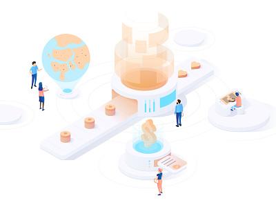 Say Virtual Kid Isometric Design matchmaking blockchain hologram virtual isometric illustration isometric design isometric art isometric iso vector illustration vector art illustraor graphic  design minimal vector illustration design