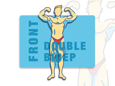 Front Double Bicep vector illustration graphic design