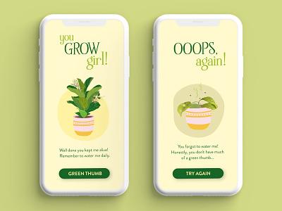 UI Design: flash message. YOU GROW GIRL! dailyui011 dailyui appdesign uidesign graphic design branding ui