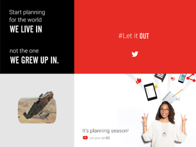 Let it Out - Moodboard alternate gothic roboto red video ads digital ads advertising moodboard google youtube
