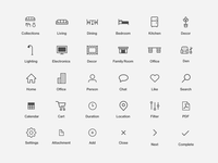 Brook Furniture Icon Set