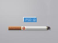 Cigarette psd