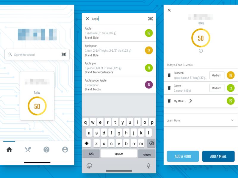 Micronutrient Tracker App UI