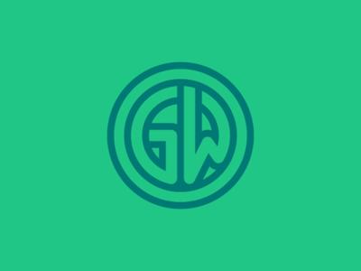GW Monogram branding logos identity logo brand gw monogram