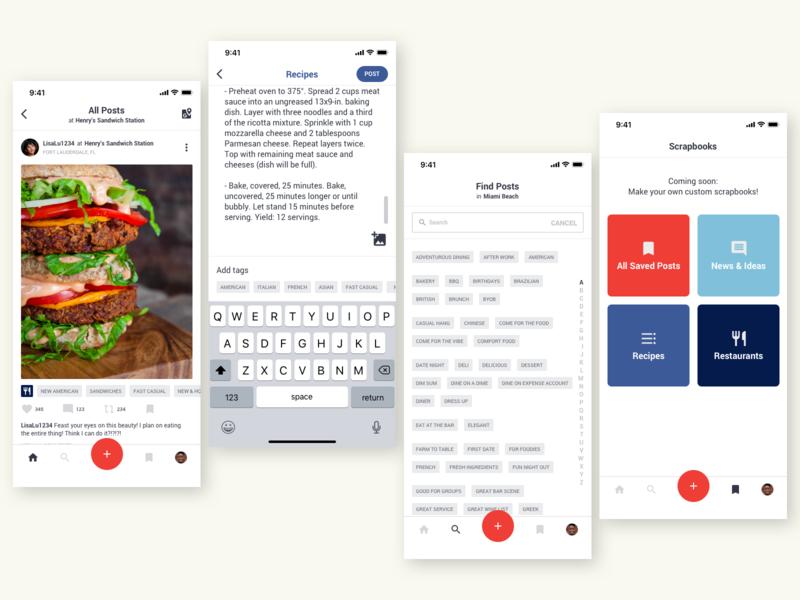 Tasteland UI foodies foodie food app ui food app icon ux interface native ios design iphone ui app
