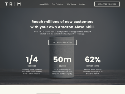 Alexa Skill Landing Page site marketing ui agency website landing page echo alexa skill alexa amazon