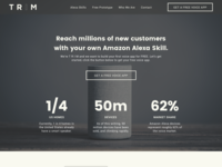 Alexa Skill Landing Page