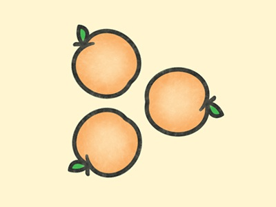 Apricot leaf peach icon simple play peaches apricot fruit