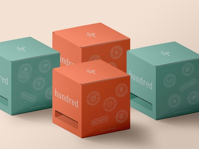 Hundred Packaging new york vitamins supplements logotype berlin logo typography startup design brand identity brand design branding packagedesign package