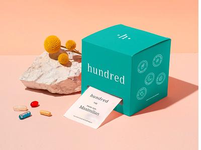 Hundred Packaging logo typography design brand identity brand design branding new york berlin startup package design packaging design packaging personalization ecommerce personalised supplements vitamins