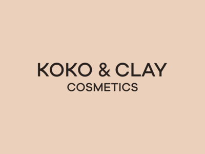 koko & clay branding packaging logotype berlin branding design brand identity beauty cosmetics cosmetic logodesign logo branding design brand design