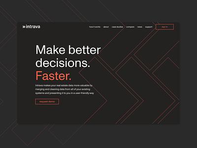 Intrava rebrand branding ui webdesign rebrand data visualization data